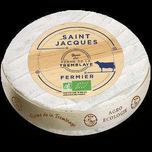 Entdecke Saint Jacques: Der cremig-würzige Weichkäse ist ein original Fromage Fermier aus der Bauernhof-Käserei Ferme de la Tremblaye in der Region Ile de France.