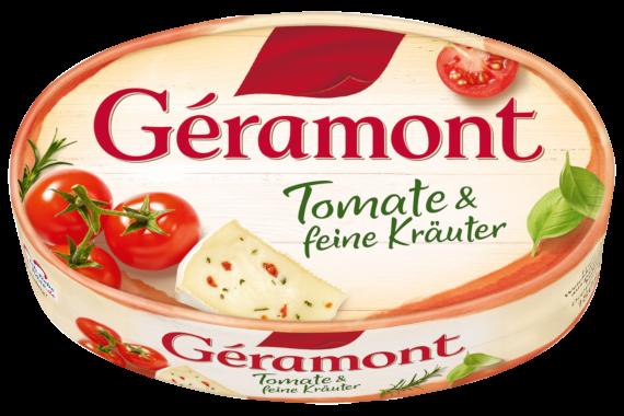Géramont Produkte Packshot Tomate & feine Kräuter