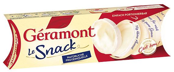 Géramont Produkte packshot Le Snack