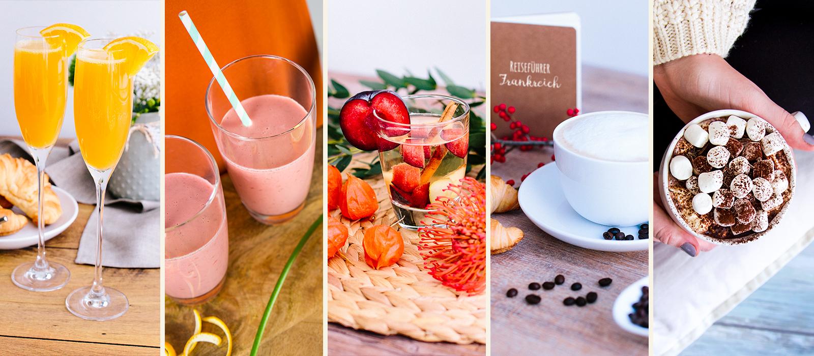 Blogger Beitrag Getränke Brunch collage