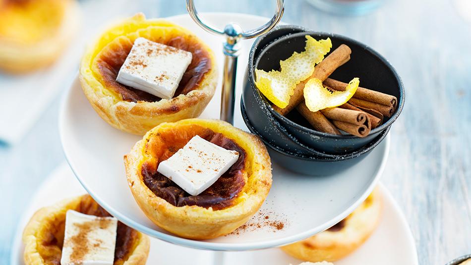 Géramont Pasteis de Nata gefüllte Puddingtörtchen