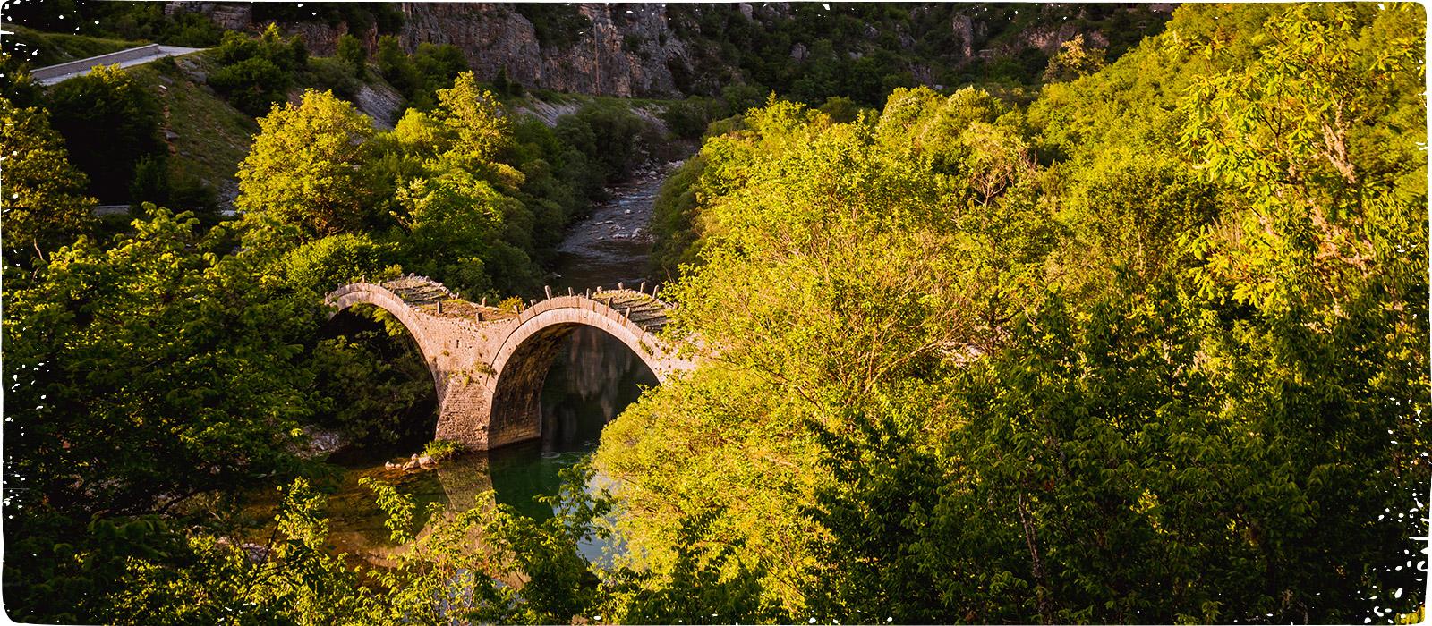 Heimat von Islos - Epirus Brücke über Fluss