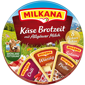 Milkana Runddose herzhafte Käse Brotzeit packshot