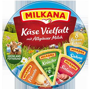 Milkana Runddose Käse Vielfalt packshot