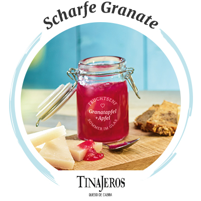 Käsebegleiter: Tinajeros Queso de Cabra & Granatapfel-Apfel-Fruchtsenf
