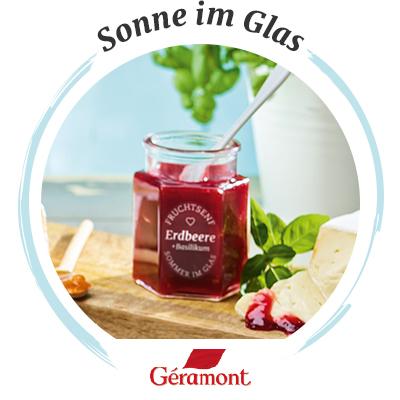 Käsebegleiter: Géramont & Erdbeer-Fruchtsenf mit Basilikum