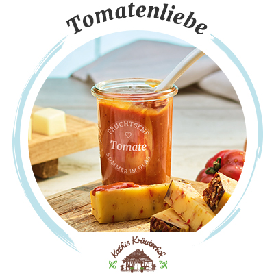 Käsebegleiter: Kathis Kräuterhof Sommersprossen & Tomaten-Fruchtsenf