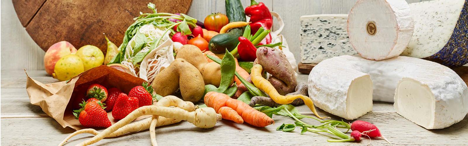 Käse und Gemüse können perfekt zusammen kombiniert werden.