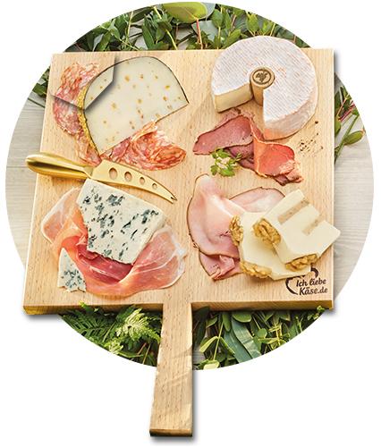 Leckere Kombination: Käse und feiner Schinken