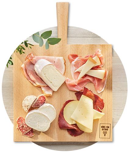 Unwiderstehliche Kombination: Käse, Schinken und Salami