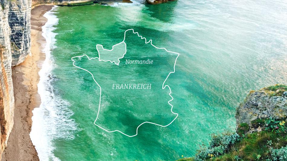 Karte Normandie
