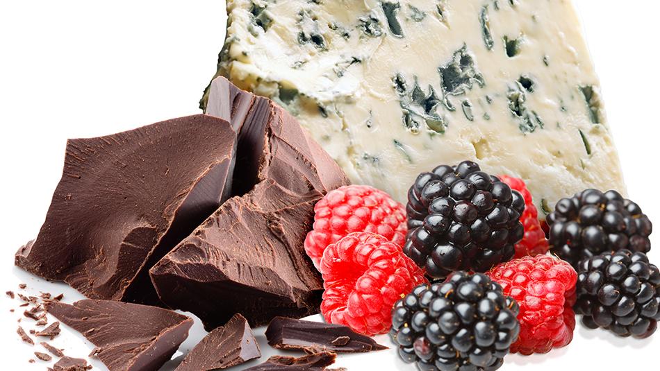 Eine gelungene Kombination: Saint Agur mit Schokolade