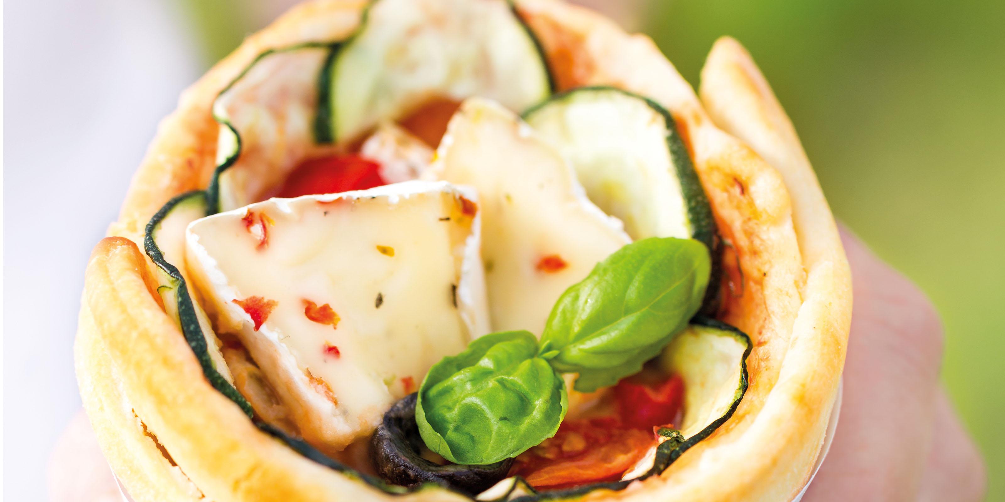 Rezept für köstliche Pizza Cones gefüllt mit Géramont.