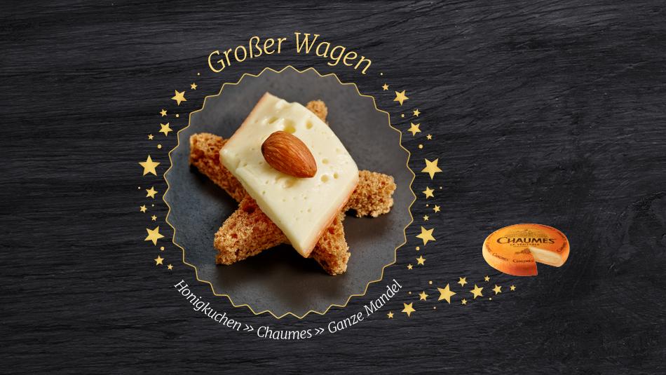Köstliche Käseplätzchen mit Chaumes und knackiger Mandel.