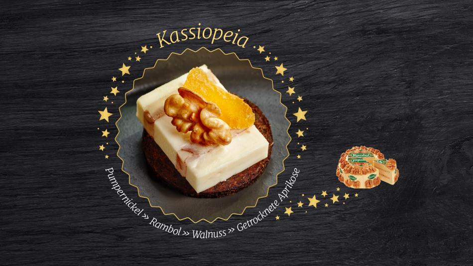 Leckere Alternative zu normalen Plätzchen: Käseplätzchen mit Rambol Käse und Walnuss Topping