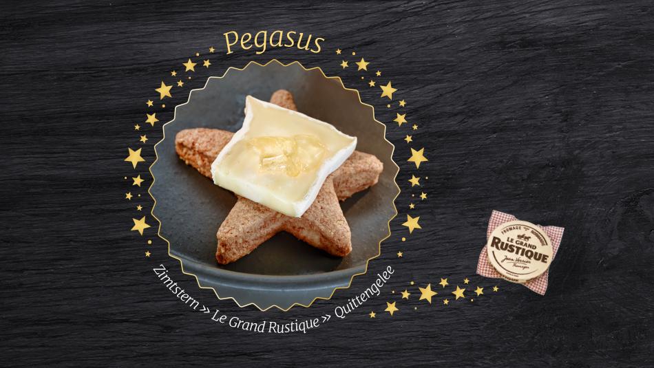 Leckere Käseplätzchen mit Le Grande Rustique Käse und Quitte.