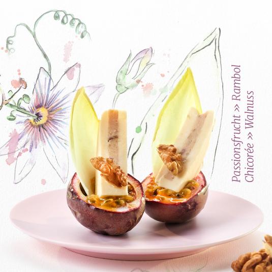 Passionsfrucht » Rambol » Chicorée » Walnuss