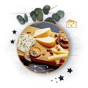 Eine exquisite Käseplatte kann den Abschluss eines feiertäglichen Menüs bilden