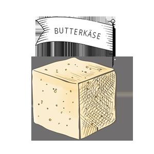 Käsesorten: Butterkäse