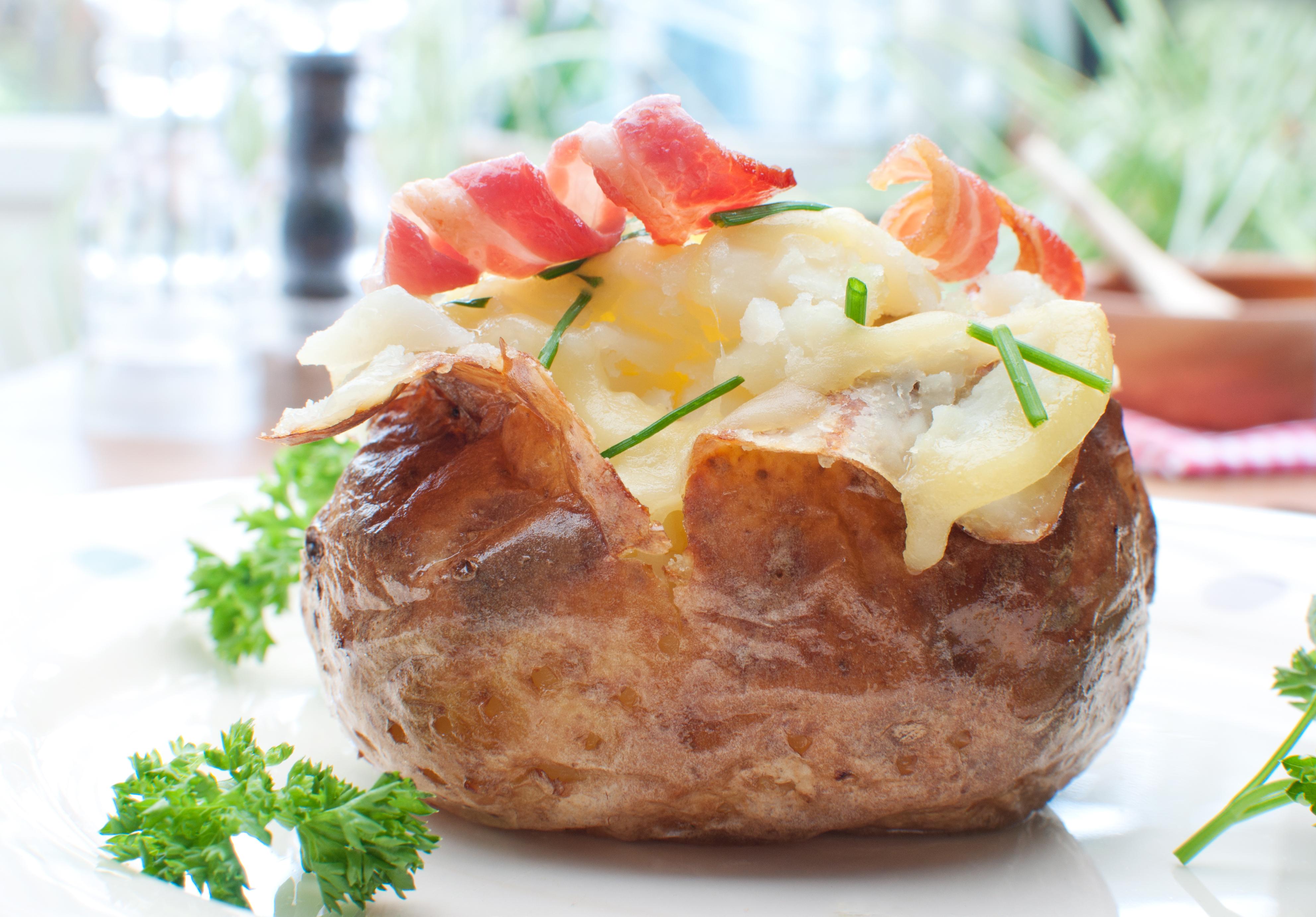 Ofen Kartoffel à la Milkana - leckere Rezeptidee