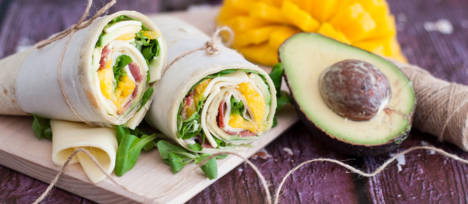 Rezept für Avocado-Wrap mit Käse