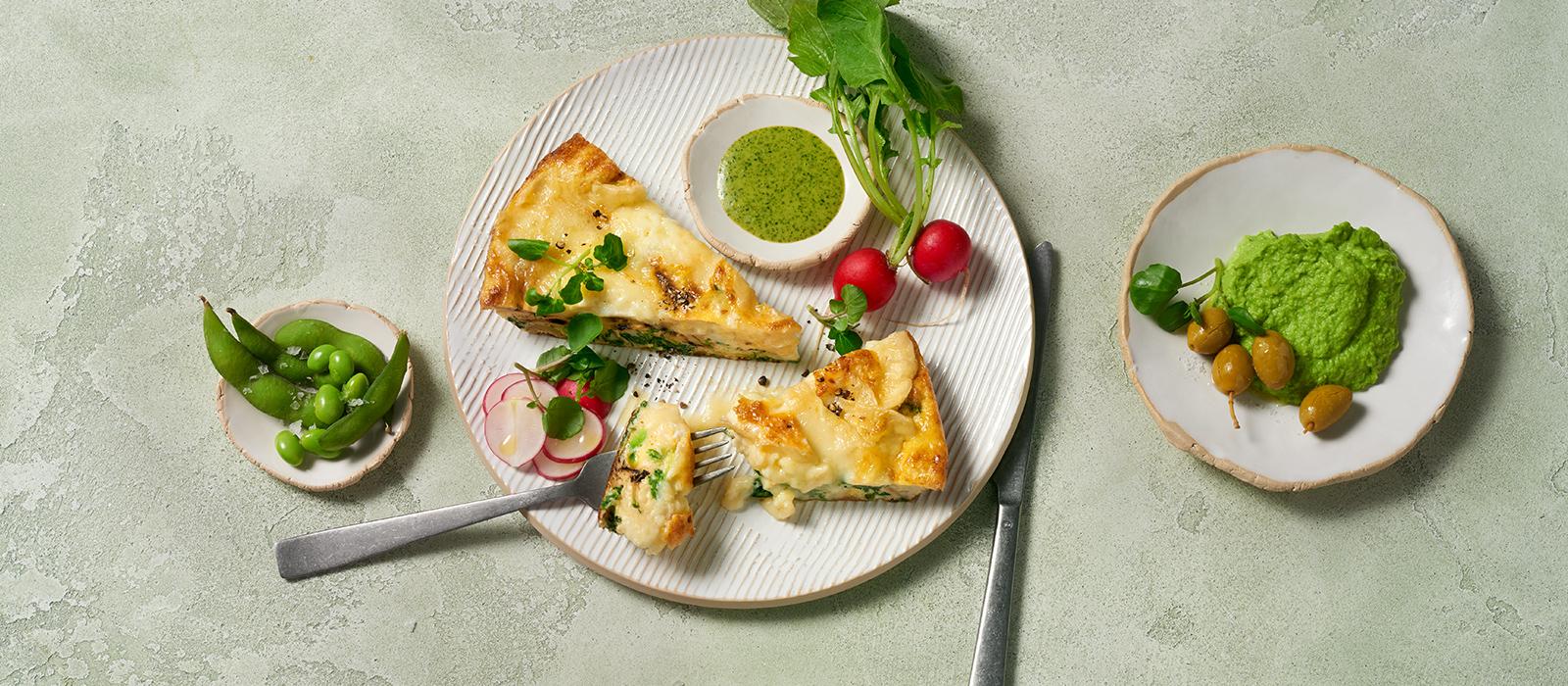 Grünes Omelett