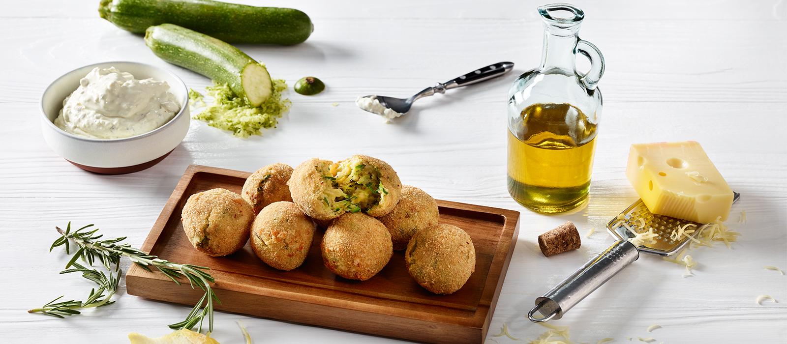 Rezept für frittierte Zucchinibällchen