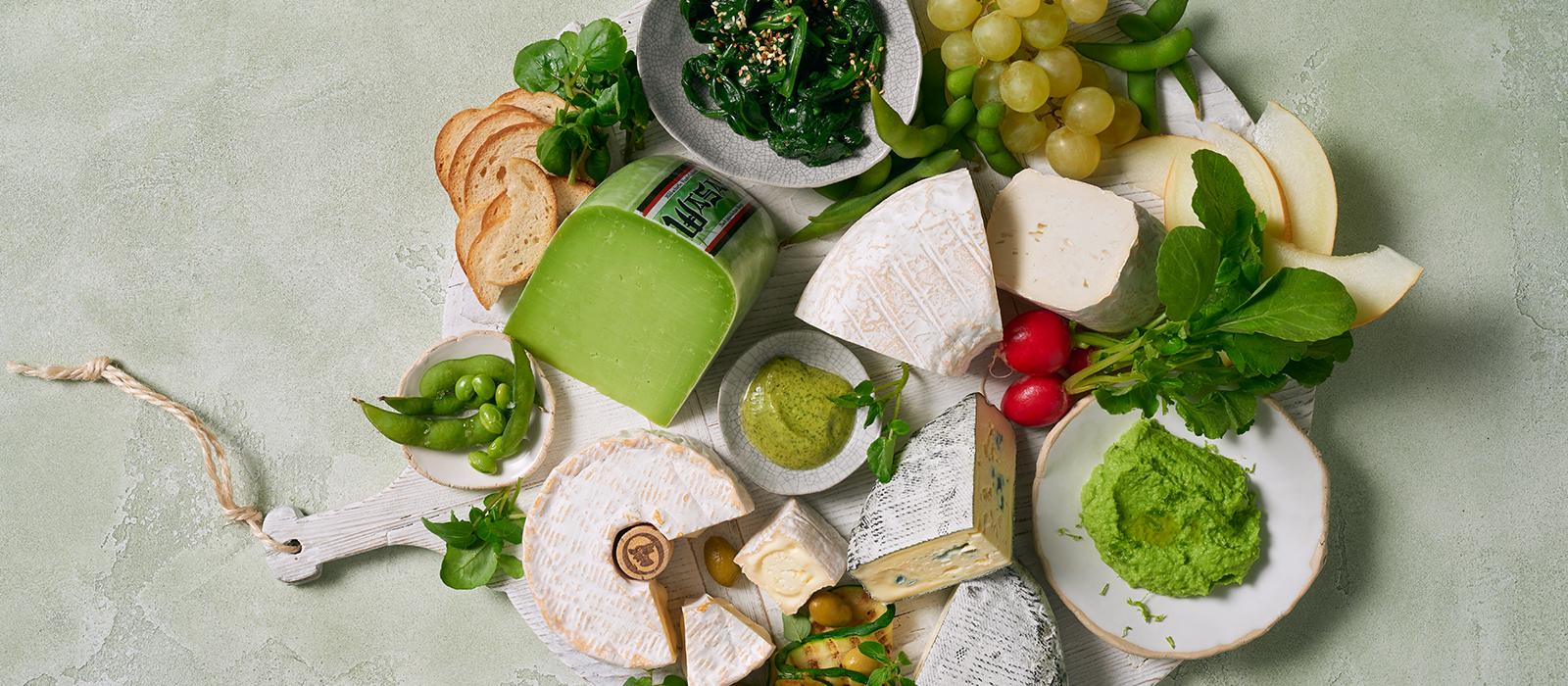 Grünes Foodboard