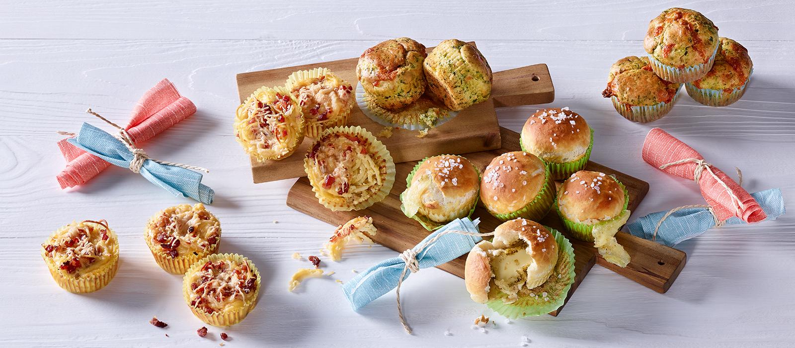 Dreierlei herzhafte Muffins