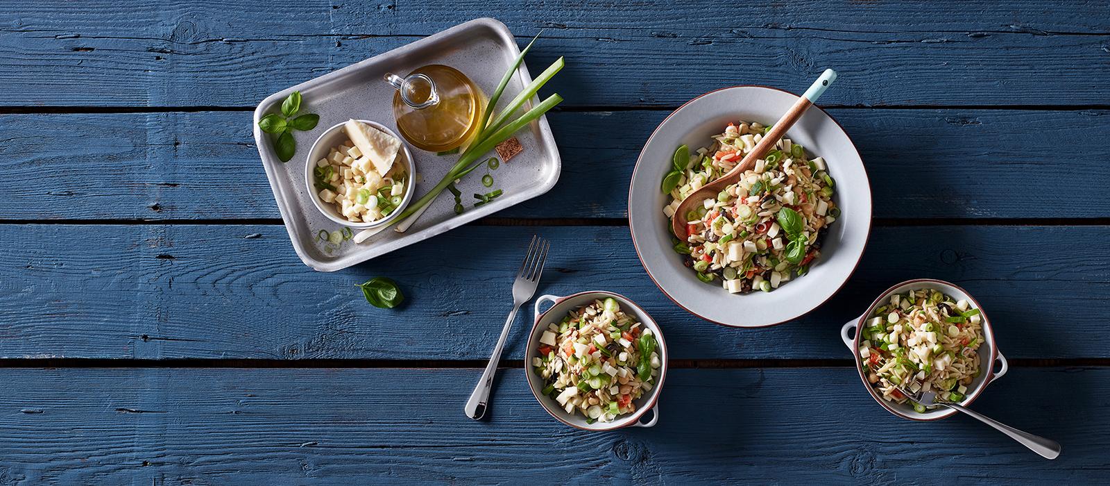 Kritharaki-Salat mit Etorki