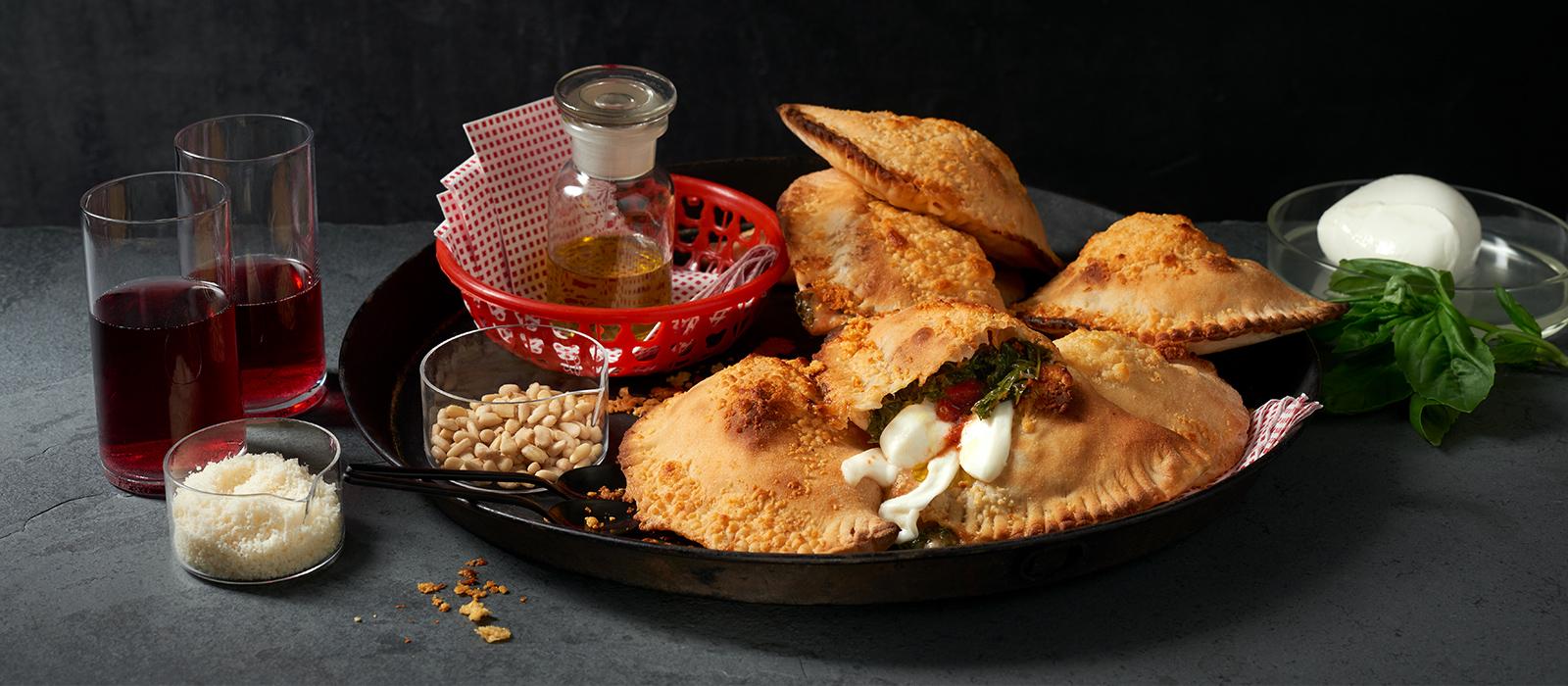 Mini-Calzone mit Mozzarella