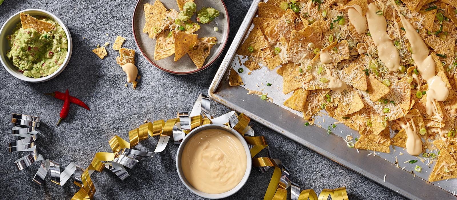 Überbackene Nachos mit Käsesauce