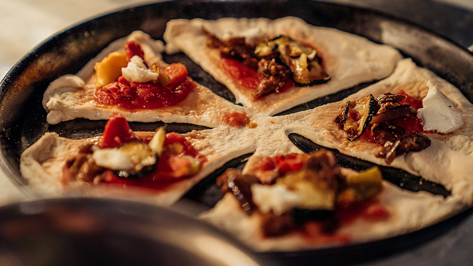 Rezept Pizza-Stern Zubereitung