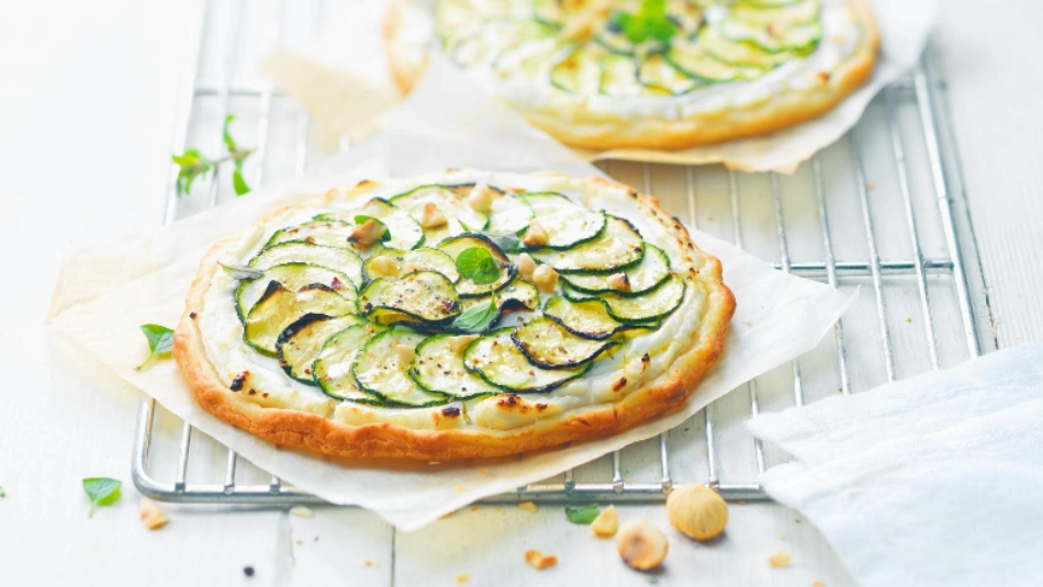 Rezept für Zucchini-Tarte mit Chavroux Teaser