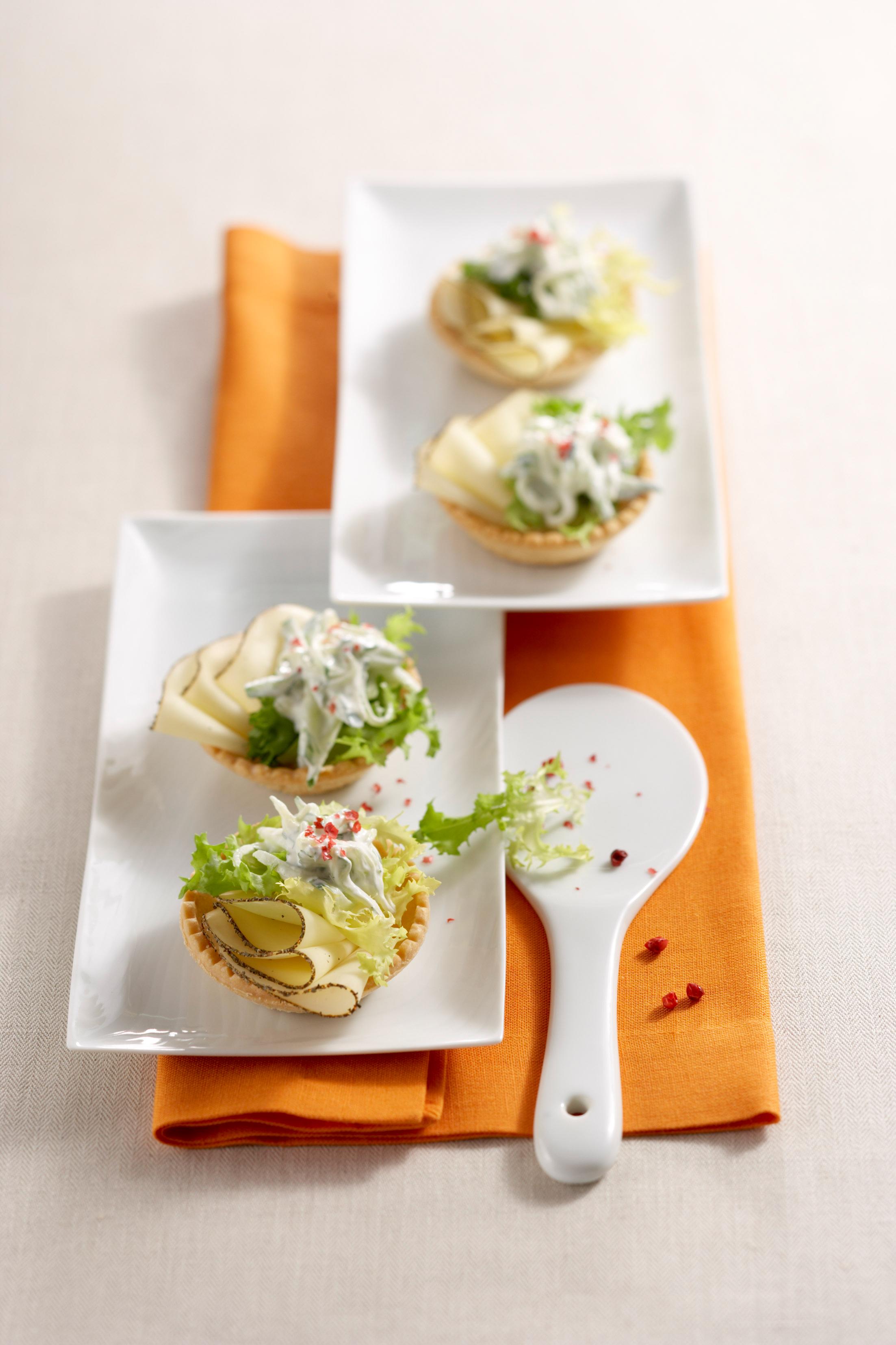 Gurken-Käse Canapés - genussvoll kochen