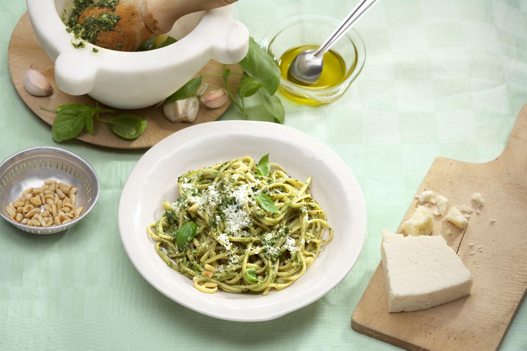 Leckere Rezeptidee - Spaghetti mit Pesto Verde
