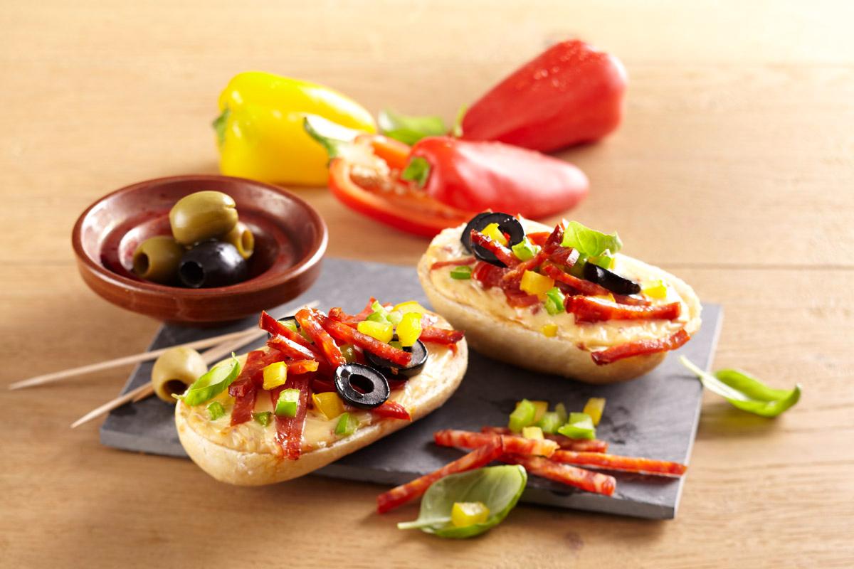 Spanisch Flair mit Tapas-Baguettes