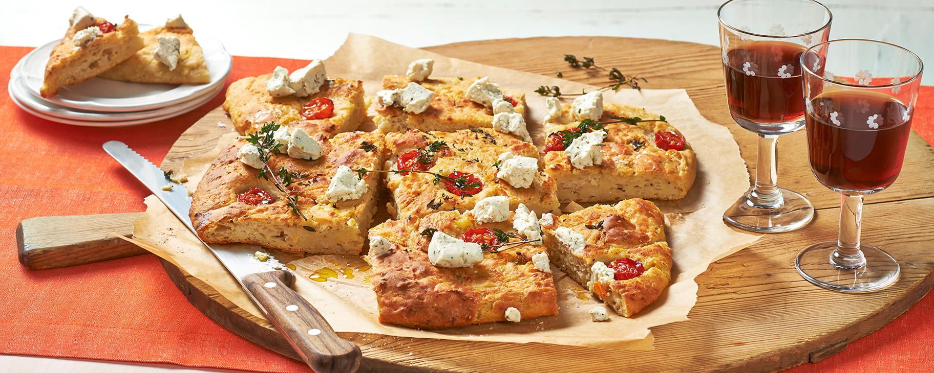 Das mediterrane Kartoffelbrot Rezept ist eine interessante Variation der italienischen Focaccia.