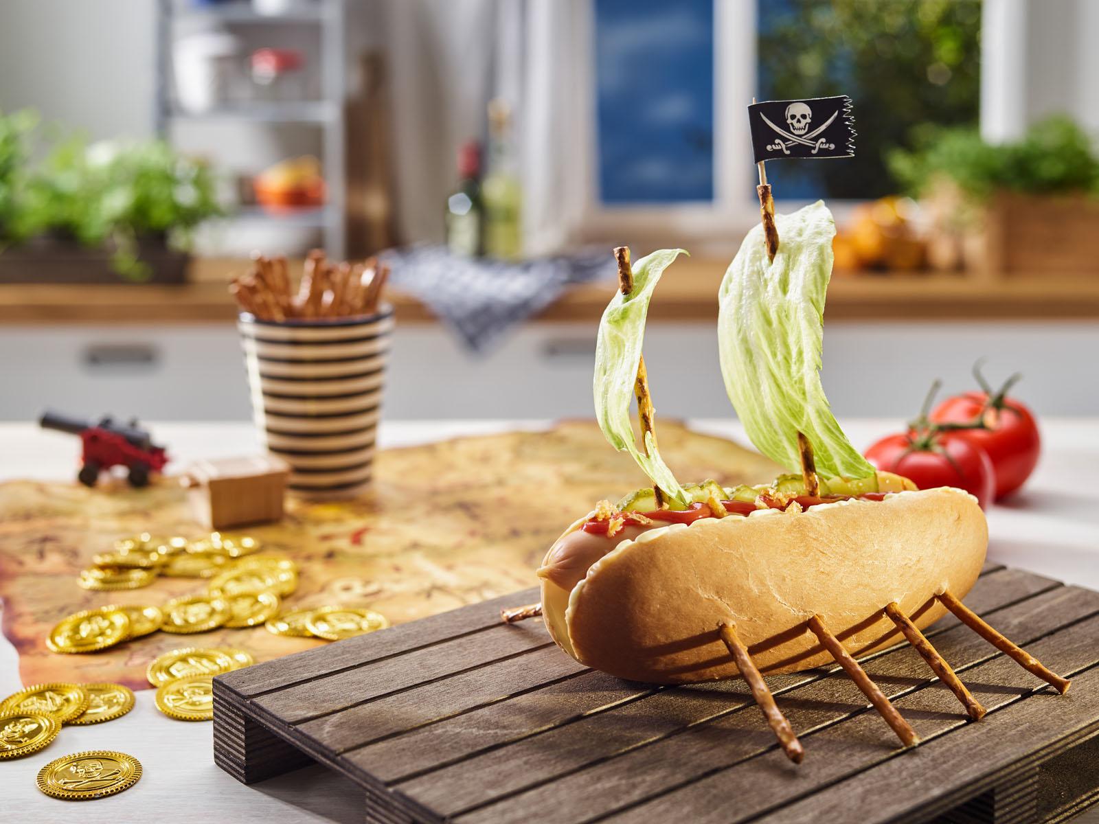 Leckeres Rezept für MILKANA Piratenschiff-Brot