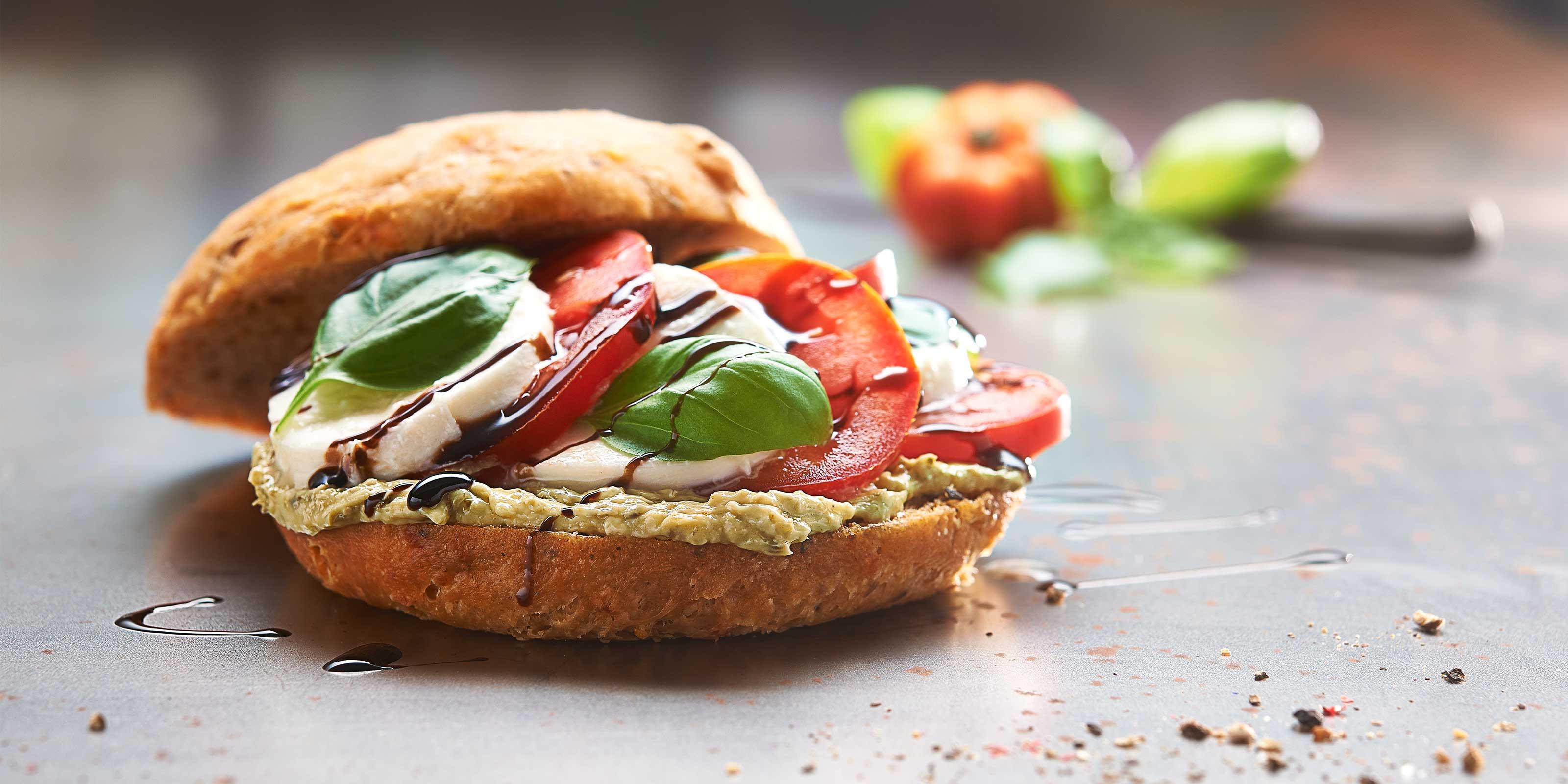 Rezept für Focaccia Sandwich Caprese mit Brunch Seenland