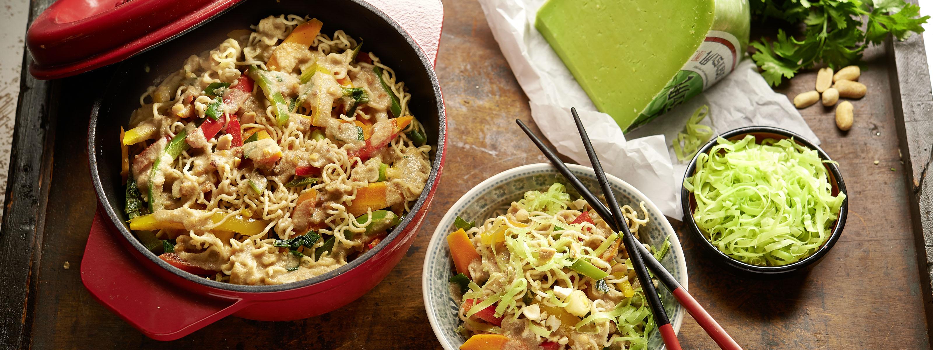 Rezept für One Pot  One Pot mit buntem Gemüse und WASABI Käse