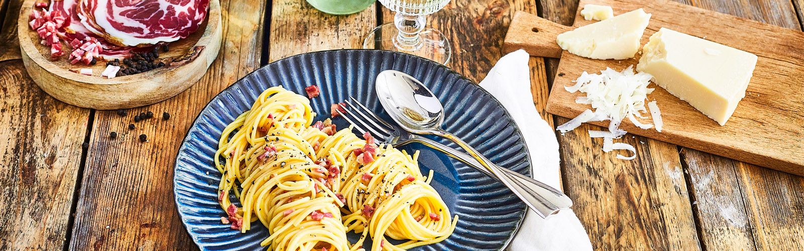 Spaghetti Carbonara mit Pancetta