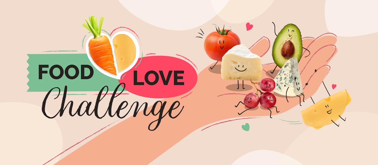 Food Love Challenge Avocado Tomate und Käse