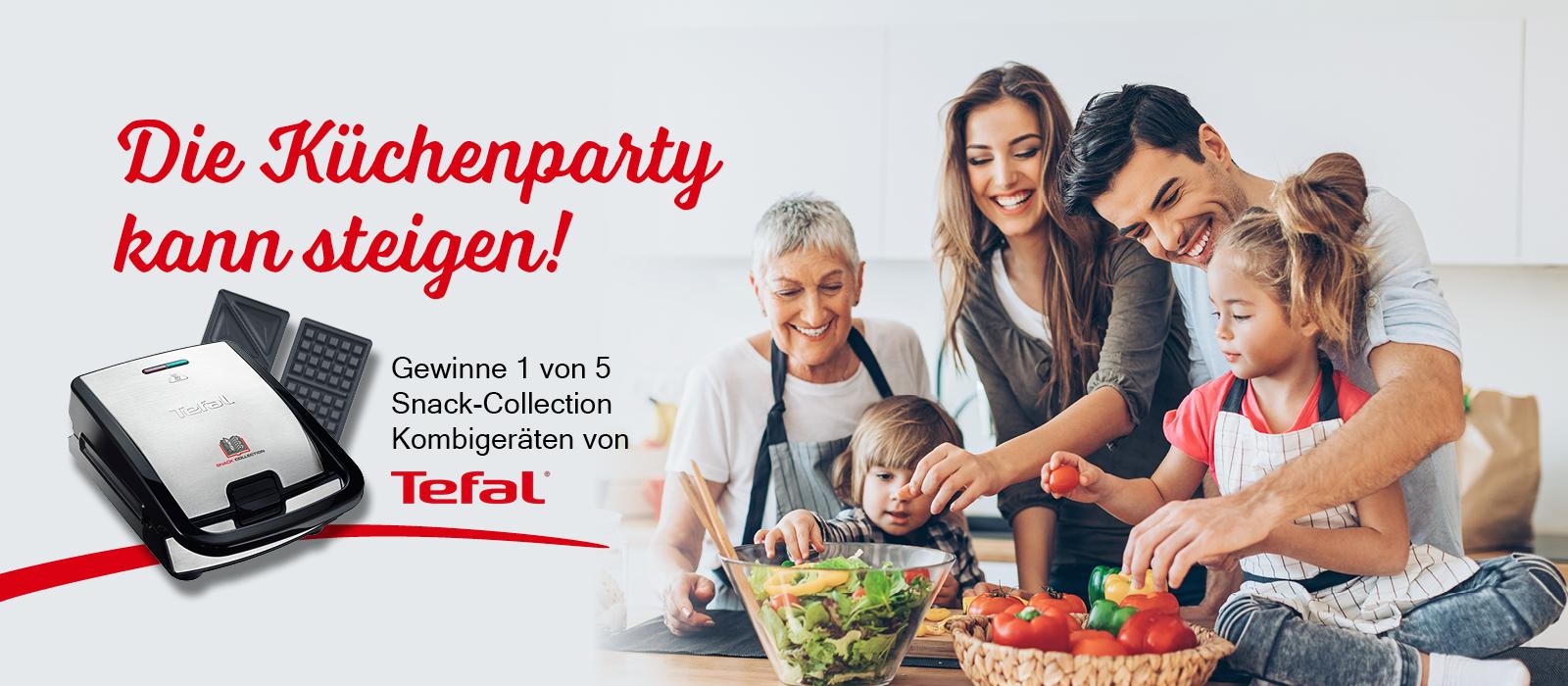 Küchenparty Gewinnspiel - gewinne 1 von 5 Tefal Snack-Collection Kombigeräten